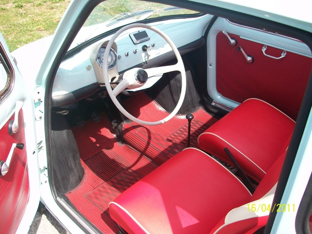 Restauro fiat 500 f 1966 for Moquette fiat 500 epoca